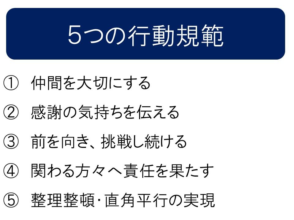 5つの行動規範