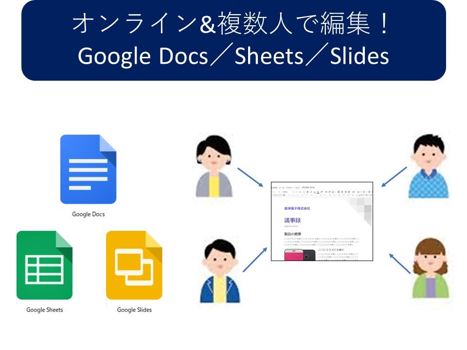 オンライン&複数人で編集! Google Docs/Sheets/Slides